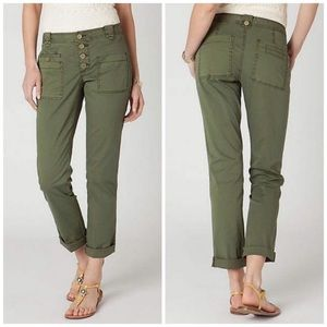 Anthropologie Hei Hei Green Utility Cargo Pants